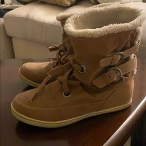 G by Guess Faux Fur Winter Boots